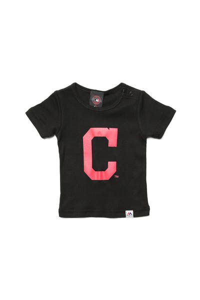 Majestic Athletic Infant Indians Prism Logo Tee Black