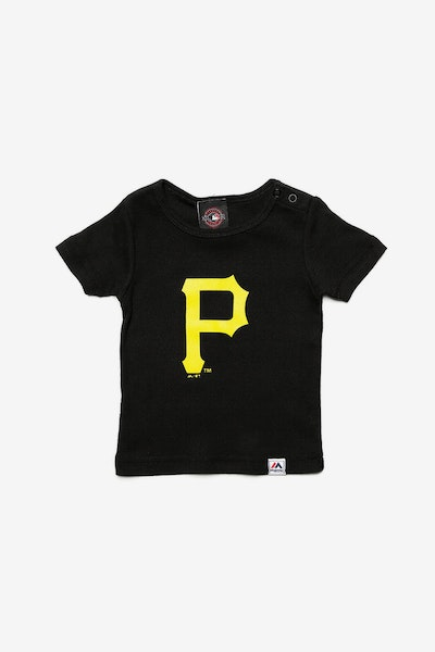 Majestic Athletic Infant Pirates Prism Logo Tee Black