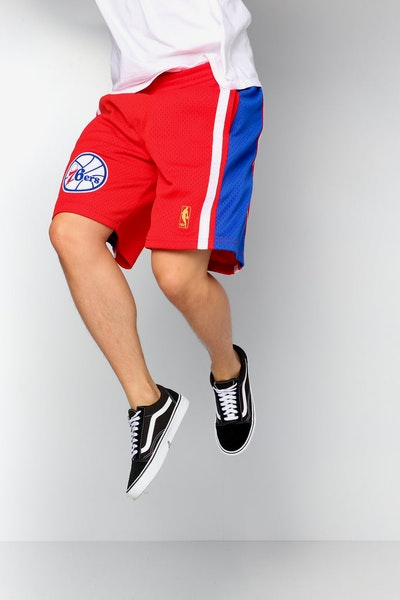 Mitchell & Ness Philadelphia 76ers 96/97 Swingman Shorts Red/Navy