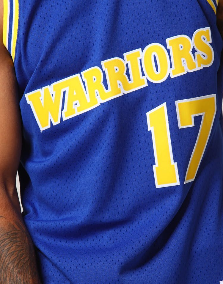 online retailer ee4a1 48560 Mitchell & Ness Golden State Warriors Chris Mullin #17 NBA Jersey Royal