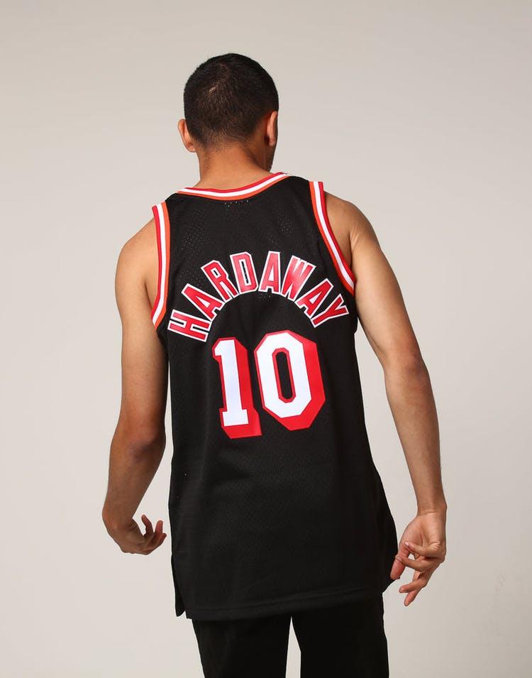 best sneakers 8971d 82ca5 Mitchell & Ness Miami Heat Tim Hardaway #10 NBA Jersey Black