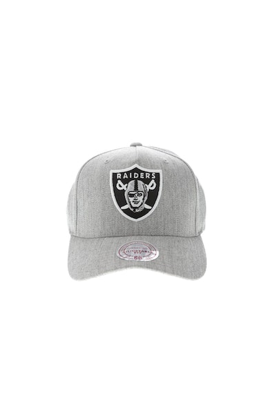Mitchell & Ness Oakland Raiders Pinch 110 High Crown Snapback Heather Grey
