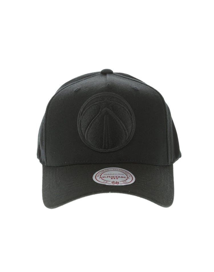 new concept e37f3 cb717 Mitchell   Ness Washington Wizards 110 Pinch Snapback Black – Culture Kings
