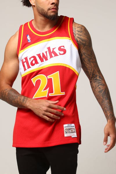 Mitchell & Ness Atlanta Hawks Dominique Wilkins #21 NBA Jersey Red
