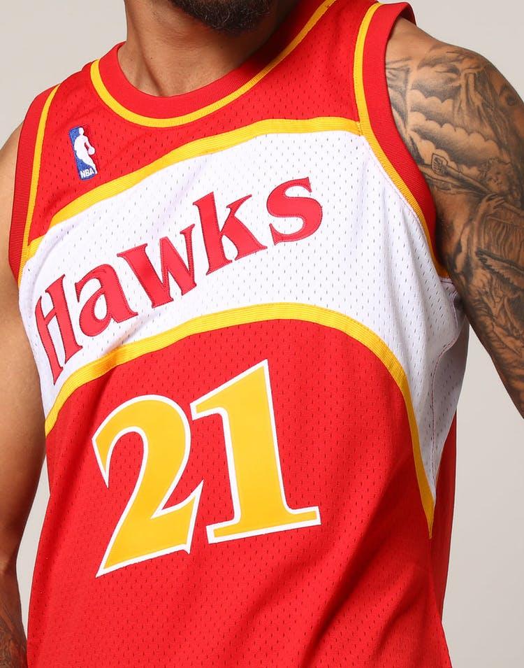 24471e44b5e7d Mitchell & Ness Atlanta Hawks Dominique Wilkins #21 NBA Jersey Red ...