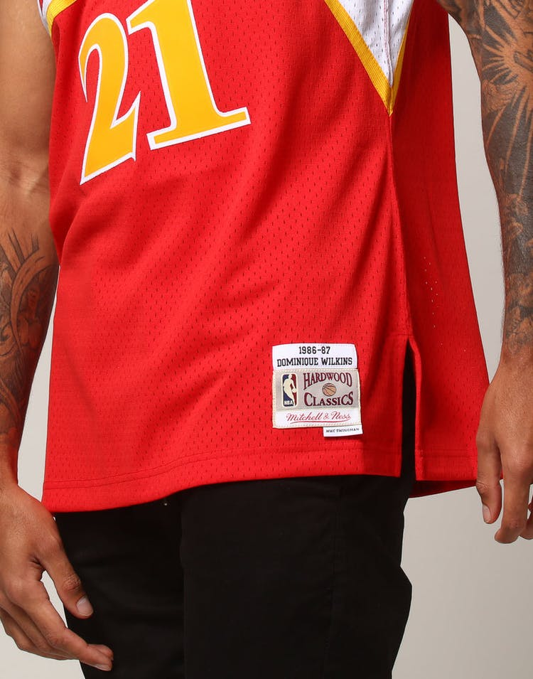 buy popular c167f 9be60 Mitchell   Ness Atlanta Hawks Dominique Wilkins  21 NBA Jersey Red
