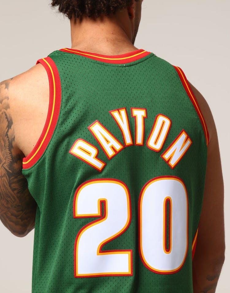 d9b7407a23f Mitchell   Ness Seattle Supersonics Gary Payton  20 NBA Jersey Green ...