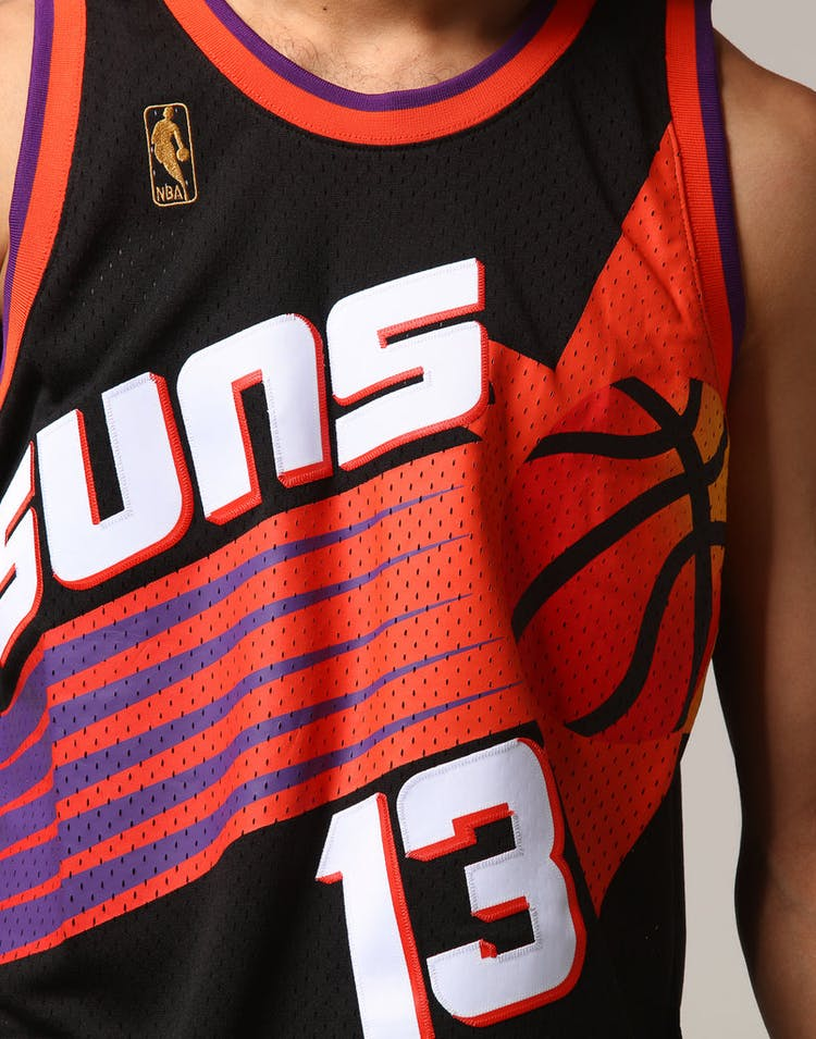 newest 0d1ea 6d09d Mitchell & Ness Phoenix Suns Steve Nash #13 NBA Jersey Black