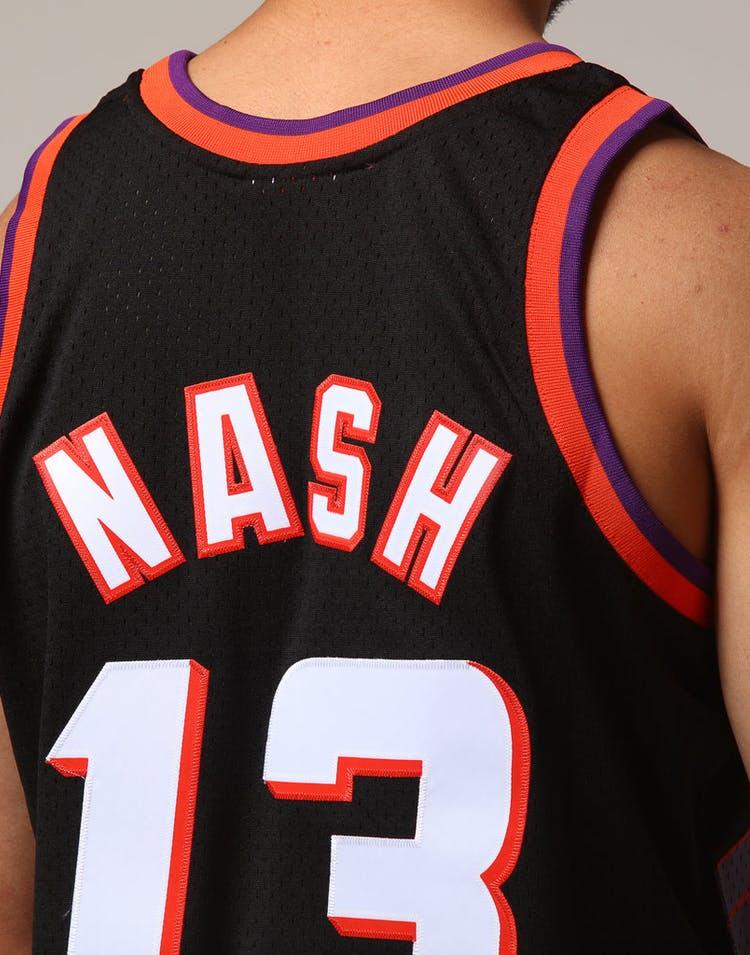 ed9f1543 Mitchell & Ness Phoenix Suns Steve Nash #13 NBA Jersey Black ...