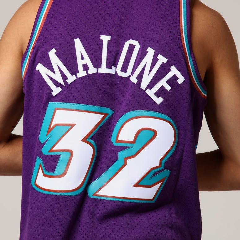Mitchell   Ness Utah Jazz Karl Malone  32 NBA Jersey Purple ... 090d04cd2