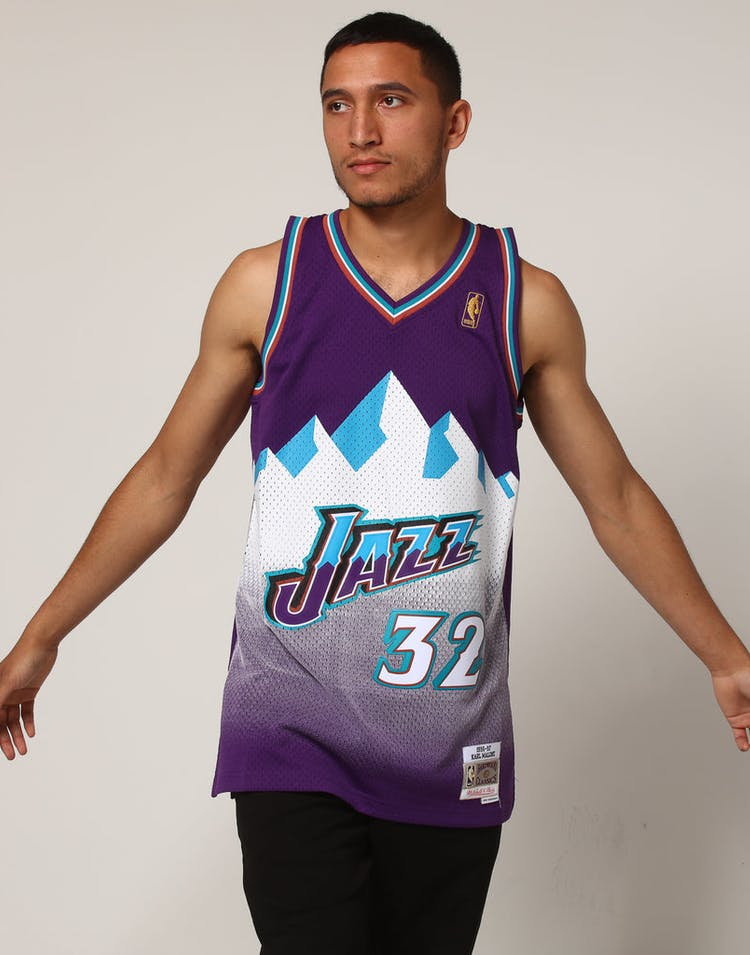 dd2fefe750aa Mitchell   Ness Utah Jazz Karl Malone  32 NBA Jersey Purple ...