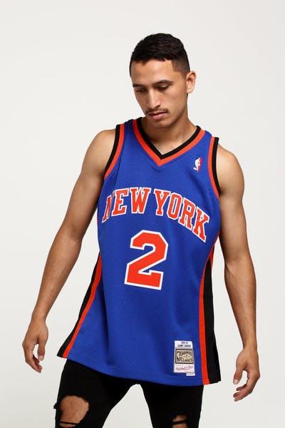 Mitchell   Ness New York Knicks Larry Johnson  2 Swingman NBA Jersey Royal c02ff540f2