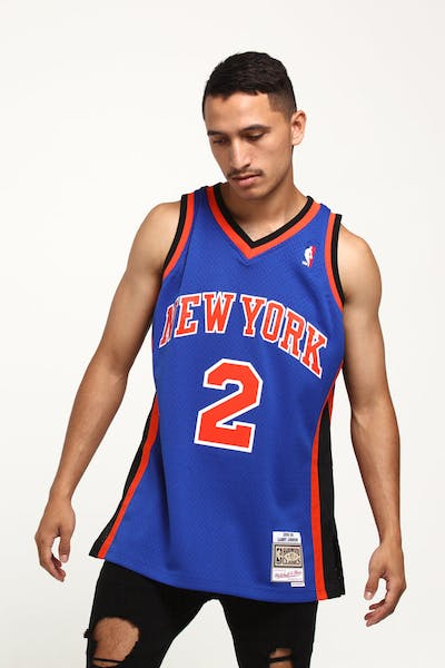 Mitchell & Ness New York Knicks Larry Johnson #2 Swingman NBA Jersey Royal
