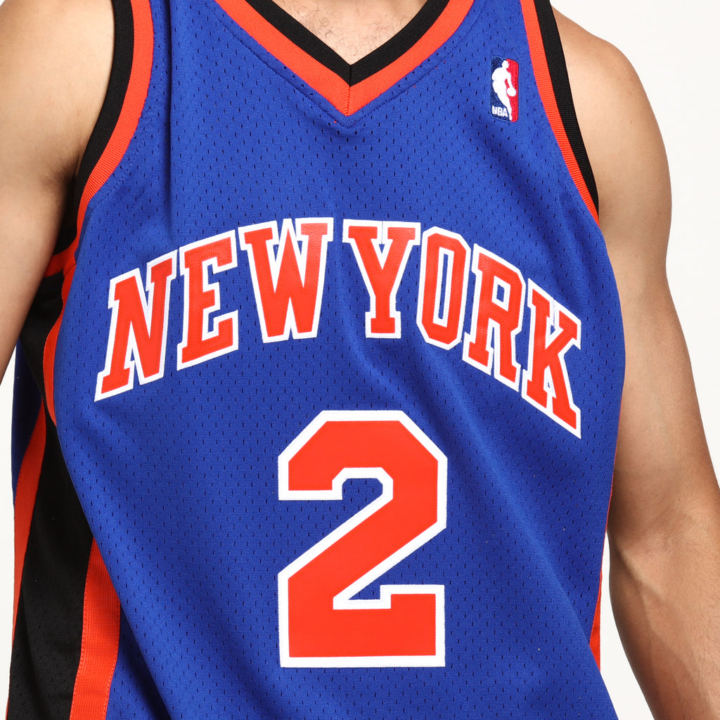 ... new york knicks larry johnson 2 swingman nba jersey royal 88827 2695d  cheap mens larry johnson new york knicks nike swingman blue jersey icon  edition ... b8f7457b8