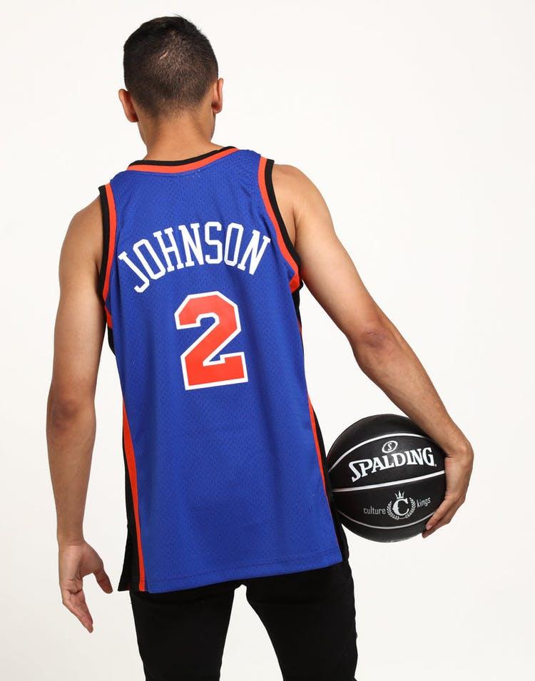 online store 30c8c 562d4 Mitchell   Ness New York Knicks Larry Johnson  2 Swingman NBA Jersey Royal