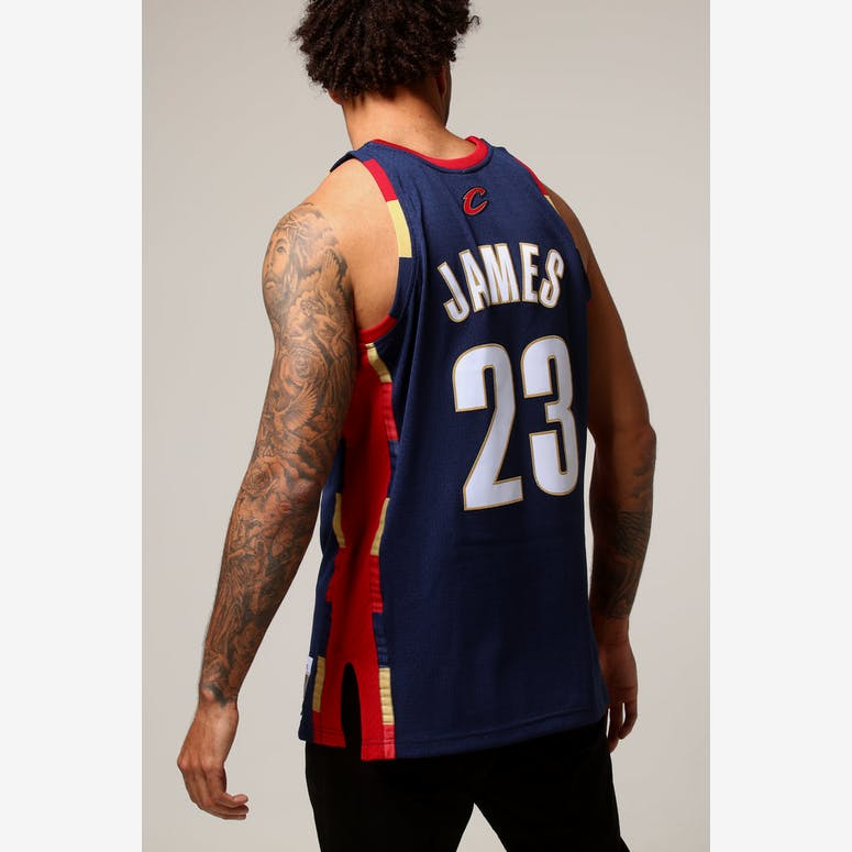 Mitchell   Ness Cleveland Cavaliers Lebron James  23 NBA Jersey Navy R –  Culture Kings 79edb8db8