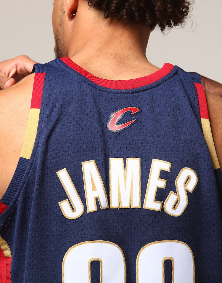 purchase cheap afde4 53165 Mitchell & Ness Cleveland Cavaliers Lebron James #23 NBA Jersey Navy/Red