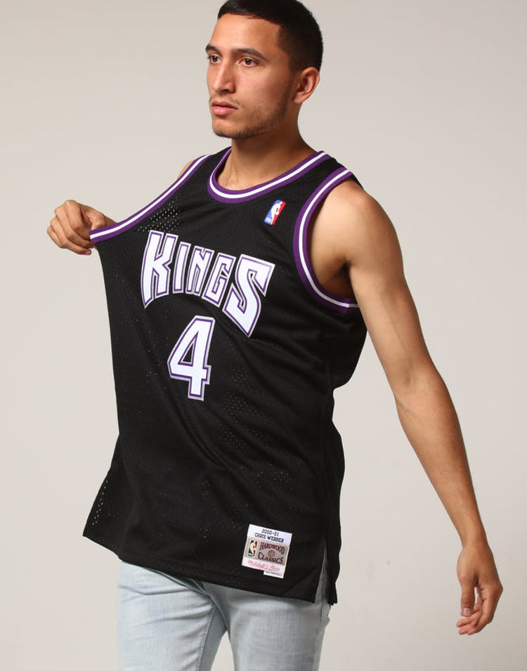 8cf52974e Mitchell   Ness Sacramento Kings Chris Webber  4 NBA Jersey Black – Culture  Kings