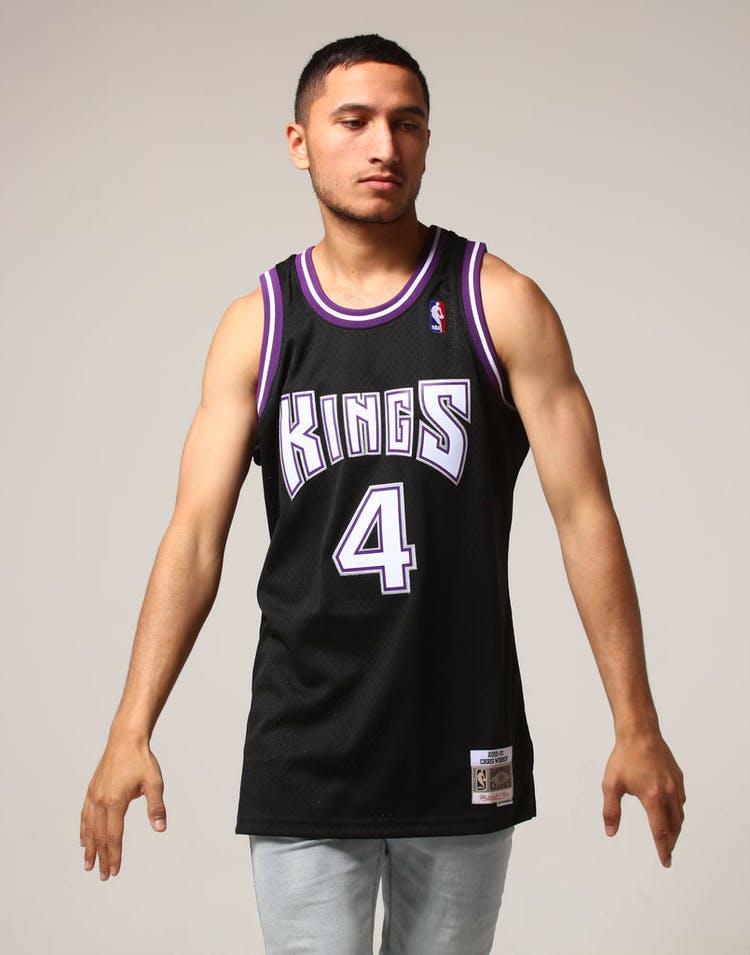 the best attitude 2dbbc dffbc Mitchell & Ness Sacramento Kings Chris Webber #4 NBA Jersey Black