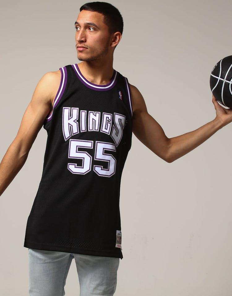 f8b8f5969 Mitchell   Ness Sacramento Kings Jason Williams  55 NBA Jersey Black ...
