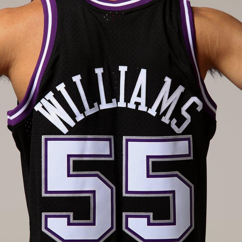 4b795b5fbeb Mitchell   Ness Sacramento Kings Jason Williams  55 NBA Jersey Black ...