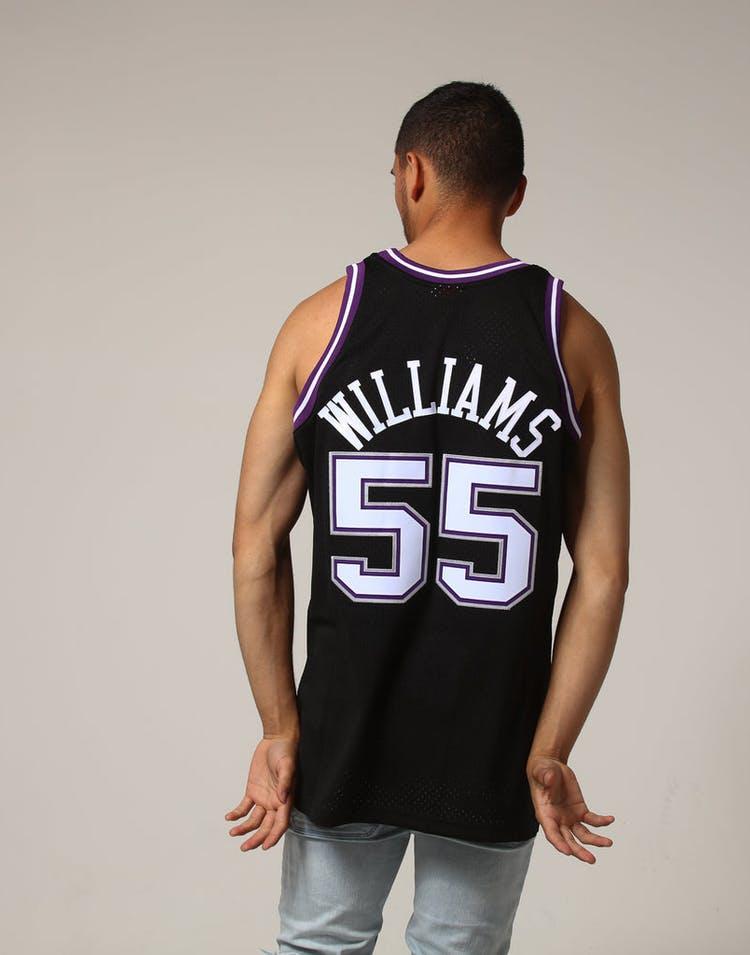 new style 104e7 7d5c4 Mitchell & Ness Sacramento Kings Jason Williams #55 NBA Jersey Black