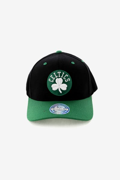 Mitchell   Ness Boston Celtics Team Logo 2 Tone 110 Snapback Black Green 2716943e34e7