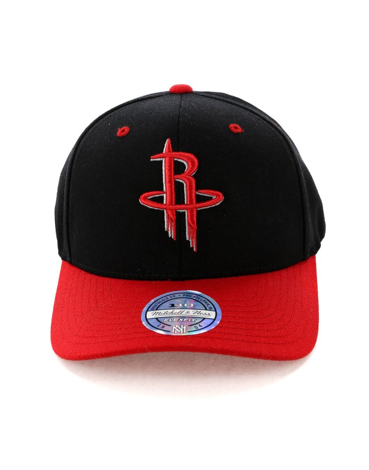100% authentic a520b 35423 Mitchell   Ness Houston Rockets Team Logo 2 Tone 110 Snapback Black Re –  Culture Kings