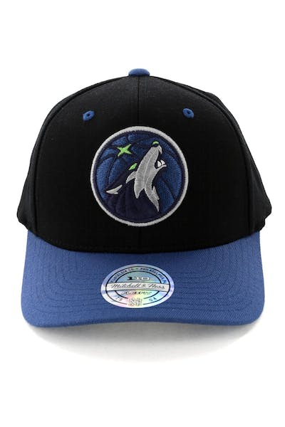 Mitchell & Ness Minnesota Timberwolves Team Logo 2 Tone 110 Snapback Black/Royal