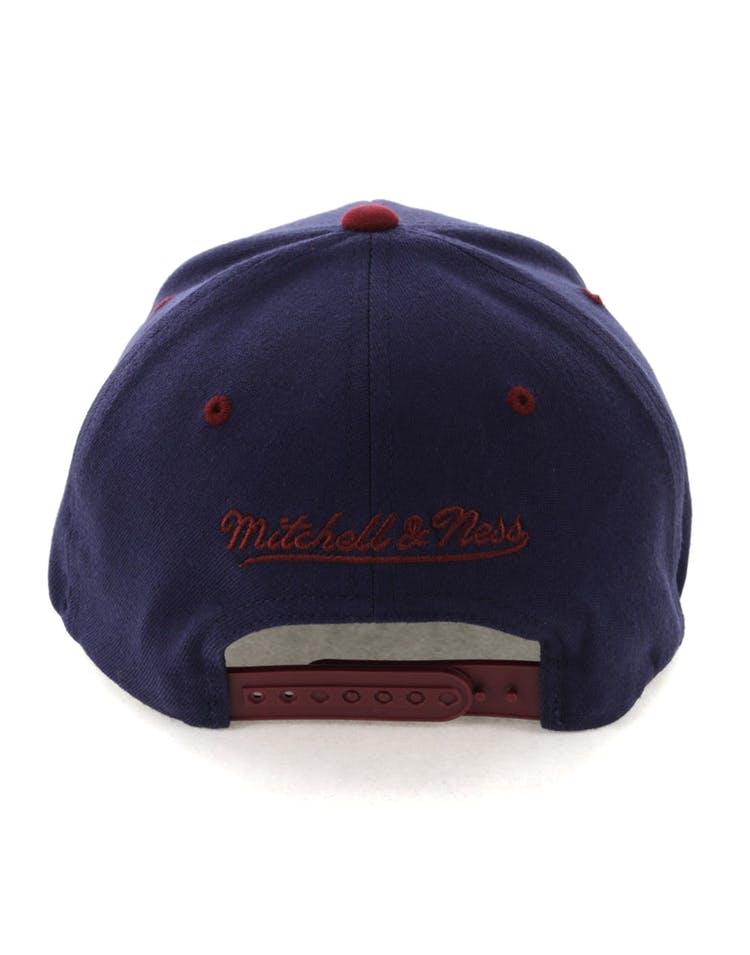 premium selection 2795c 9bf3e Mitchell   Ness Cleveland Cavaliers Team Logo 2 Tone 110 Snapback Navy  Burgundy