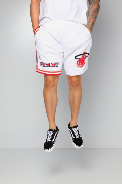Mitchell & Ness Miami Heat 96/97 Swingman Shorts White