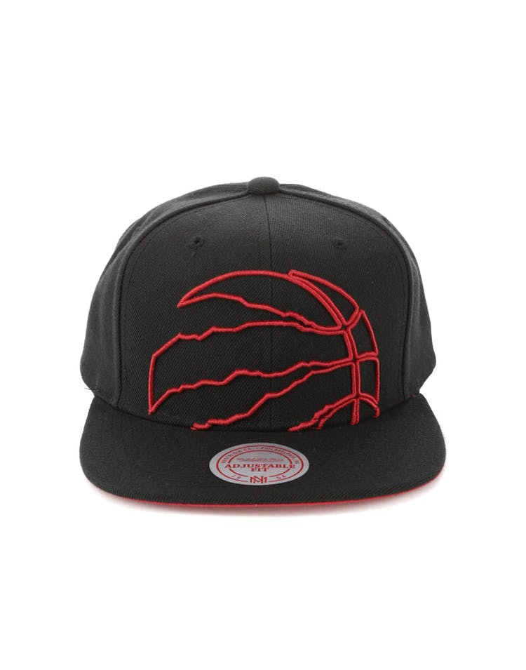 the latest 46695 ee185 Mitchell   Ness Toronto Raptors Cropped Team Colour Pop Snapback Black –  Culture Kings