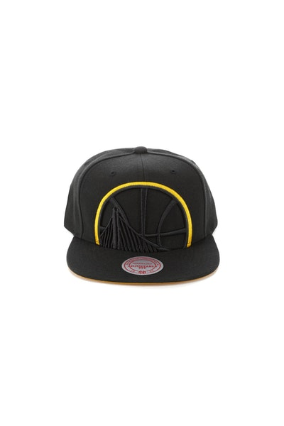 Mitchell & Ness Golden State Warriors Team Colour Pop Snapback Black/Yellow