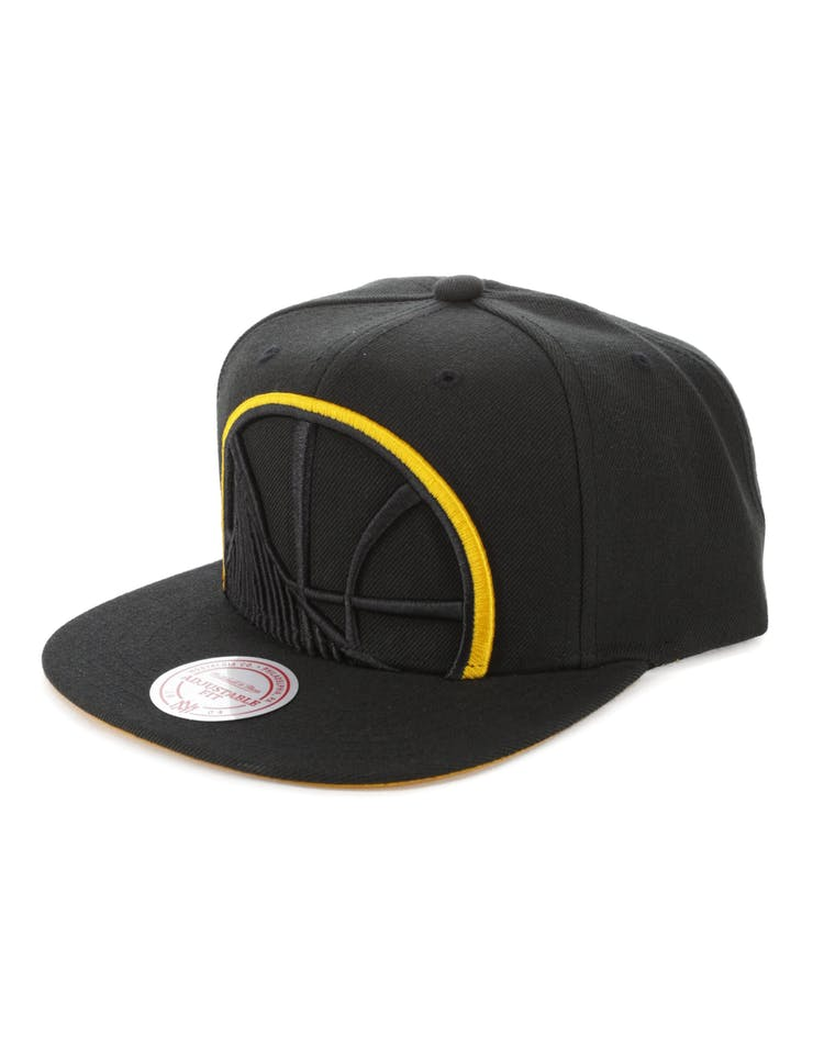 on feet at website for discount excellent quality Mitchell & Ness Golden State Warriors Team Colour Pop Snapback ...