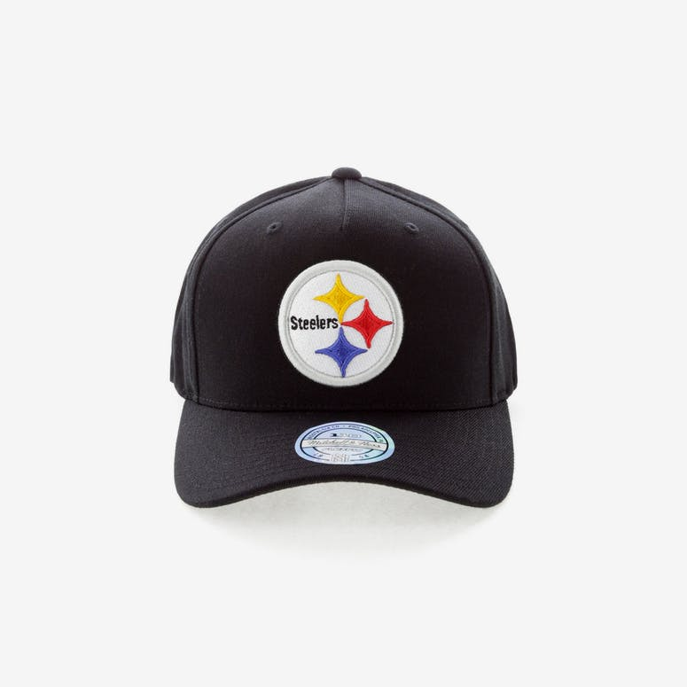 1f7d1d4bd09c2 Mitchell   Ness Pittsburgh Steelers Team 110 Pinch Snapback Black – Culture  Kings
