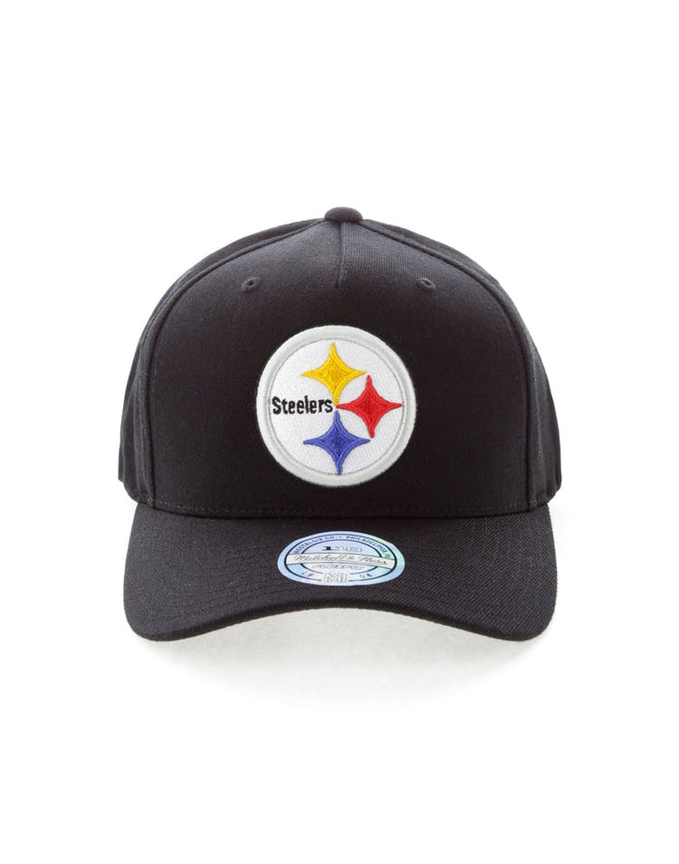 Mitchell & Ness Pittsburgh Steelers Team 110 Pinch Snapback Black