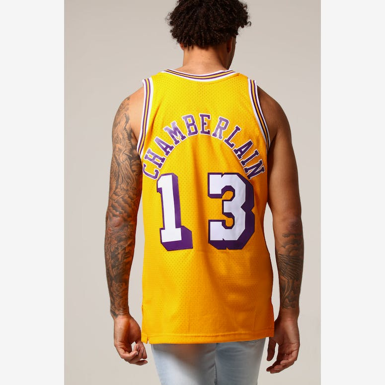Mitchell   Ness Los Angeles Lakers Wilt Chamberlain  13 NBA Jersey Yel –  Culture Kings cf78827a5