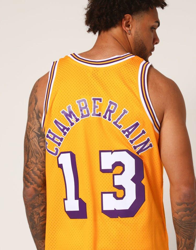 9ecb6f899c3 Mitchell   Ness Los Angeles Lakers Wilt Chamberlain  13 NBA Jersey Yellow