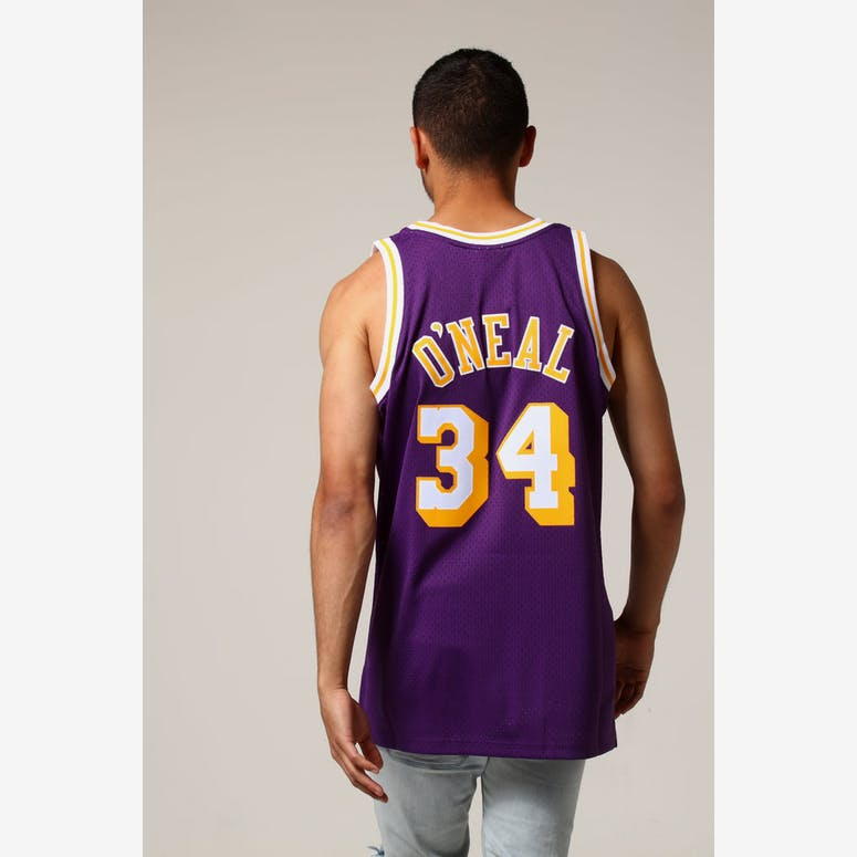 eac468071 Mitchell   Ness Los Angeles Lakers Shaquille O Neal  34 NBA Jersey Pur –  Culture Kings