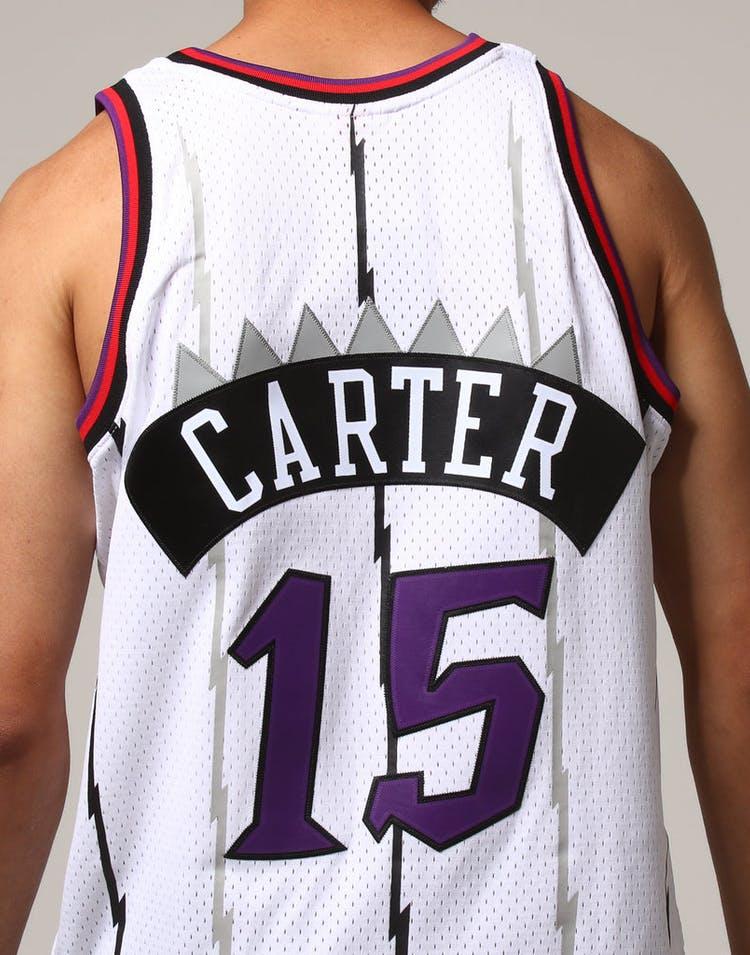d78ea2eb0 Mitchell   Ness Toronto Raptors Vince Carter  15 NBA Jersey White ...