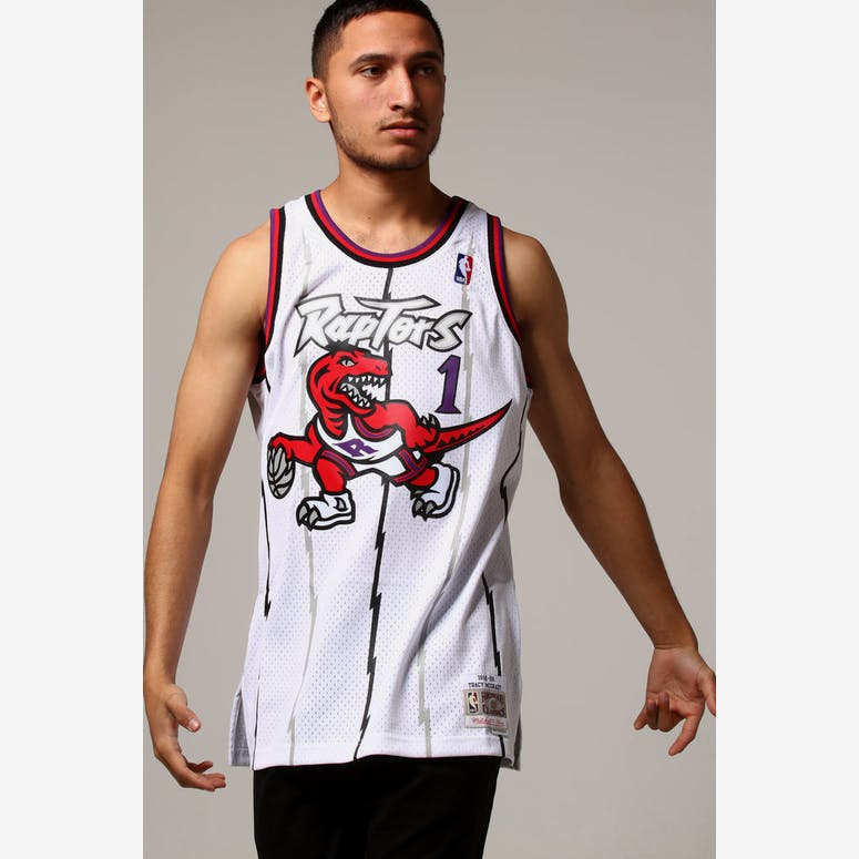 decbfdb94 Mitchell   Ness Toronto Raptors Tracy McGrady  1 NBA Jersey White – Culture  Kings