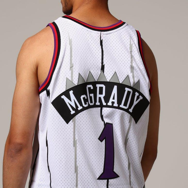 37d370a96 Mitchell   Ness Toronto Raptors Tracy McGrady  1 NBA Jersey White ...