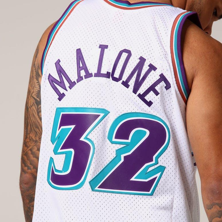 Mitchell   Ness Utah Jazz Karl Malone  32 NBA Jersey White – Culture ... 89b0e1d51