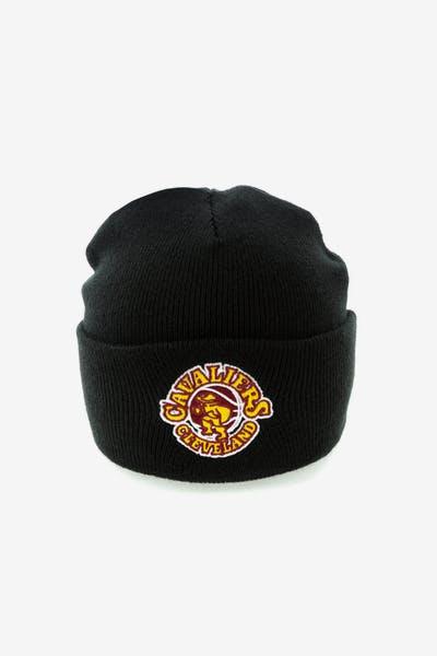 a892219c7ce Mitchell   Ness Cleveland Cavaliers Team Logo Cuff Beanie Black
