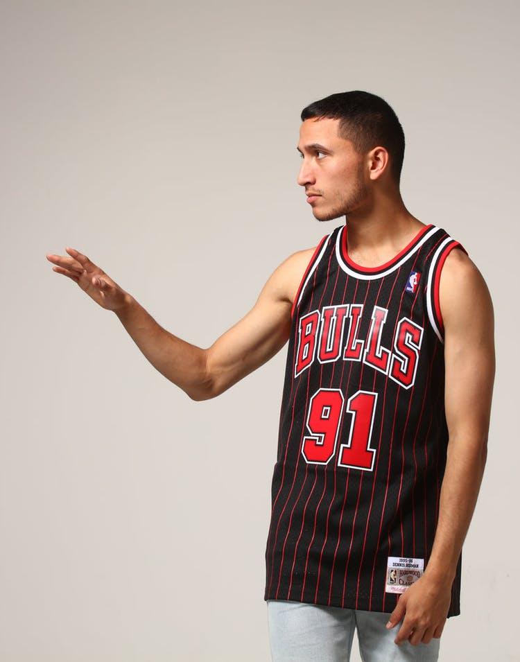best service b45a9 324e6 Mitchell & Ness Chicago Bulls Dennis Rodman #91 NBA Jersey Black/Red