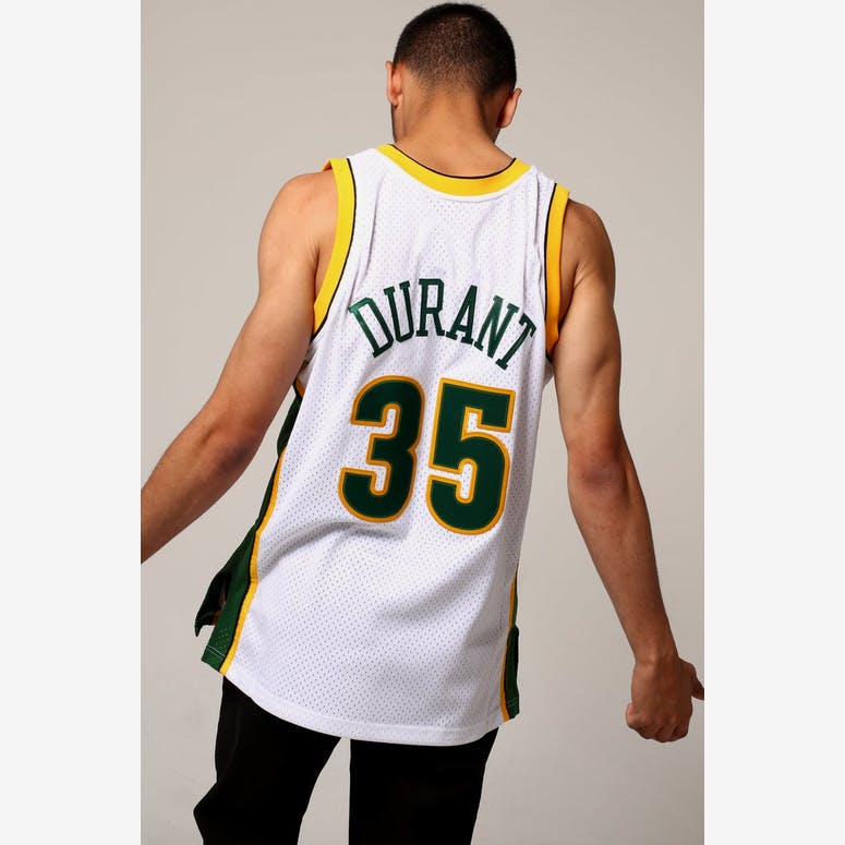 Mitchell   Ness Seattle Supersonics Kevin Durant  35 NBA Jersey White  –  Culture Kings c10ddad6b