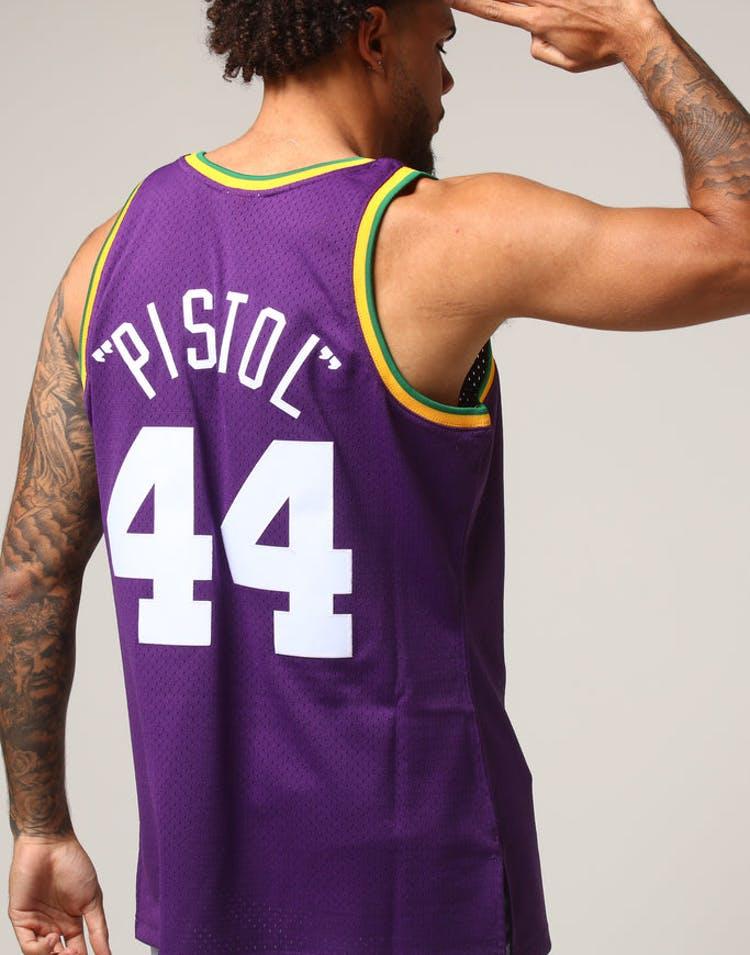 1a7a3f432d31 Mitchell   Ness Utah Jazz Pete Maravich  44 NBA Jersey Purple – Culture  Kings