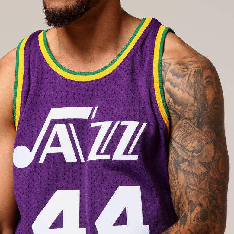 39ccce914 Mitchell   Ness Utah Jazz Pete Maravich  44 NBA Jersey Purple ...