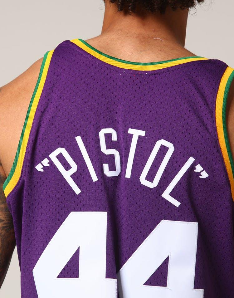 6541f4b7abec Mitchell   Ness Utah Jazz Pete Maravich  44 NBA Jersey Purple ...