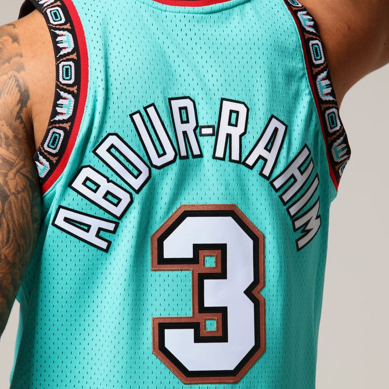 Mitchell   Ness Vancouver Grizzlies Shareef Abdur-Rahim  3 NBA Jersey Aqua b697c2095